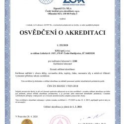 KSQ - Certificate of accreditation 2020