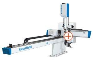 Kompaktní lineární roboty KraussMaffei LRX - Rychlé a flexibilní díky centrálnímu portálu médií